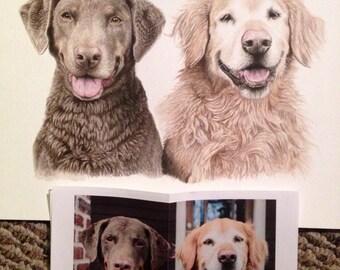 """custom dog painting: pet memorial painting 11x14"""" dog or pet watercolor"""