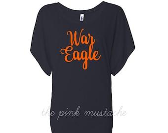 War Eagle Dolman / Flowy Shirt/ Auburn Shirt