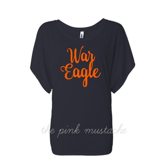 War eagle dolman flowy shirt auburn shirt for Auburn war eagle shirt