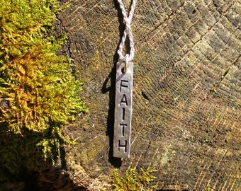 """Handmade Sterling Silver """"Faith"""" Necklace"""
