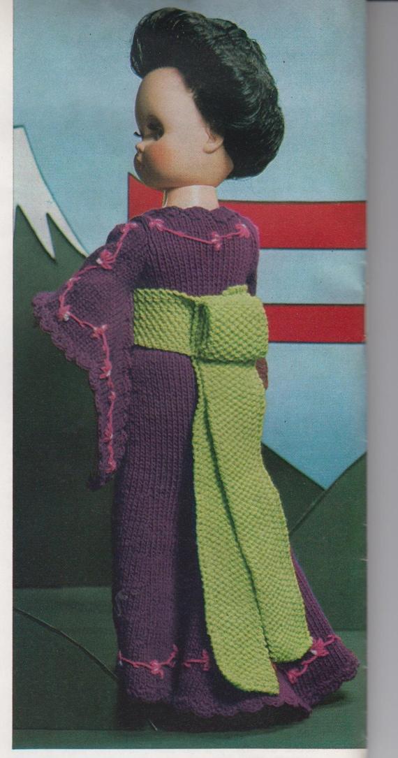 Vintage Knitting pattern Dolls Clothes around the World ...