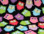 Owl Print Felt Fabric Sheets Craft Felt