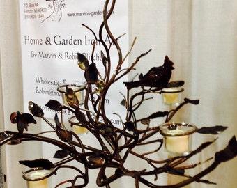 Iron Chandelier with bird