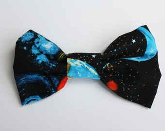"5"" Black Planet Hair Bow"