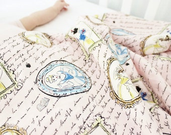 Disney Princess White Minky Baby Blanket, Princess Baby Blanket, Disney Princess Blanket, Baby Girl Blanket, Minky Baby Blanket, Belle