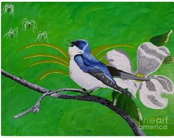 "Original 11x14 Painting ""Songs of Spring"""