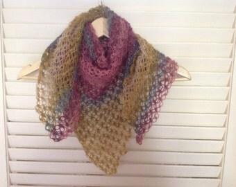 Shoulder shawl, scarf, scarflet, crochet