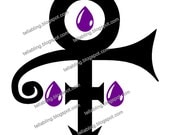 Prince Symbol Purple Rain Vinyl Decal - SVG, PNG
