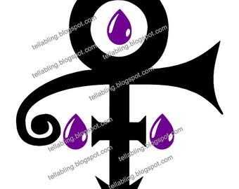 Prince Symbol Purple Rain Vinyl Decal - SVG, PNG - Instant Digital Download