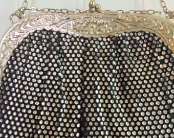 Vintage Harry Levin Silver Mesh Purse Art Noveau Style Purse Women's Purses Evening Bag