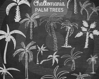 Chalk Palm Trees