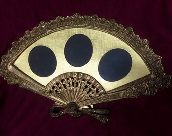 Vintage Picture Frame - Fan with Stand - 1960s