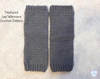 Textured Leg Warmers Crochet Pattern, Boot Socks Crochet Pattern, Crochet Pattern, Baby Leg Warmers, Child Leg Warmers, Adult Leg Warmers