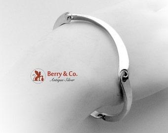 SaLe! sALe! Mexican Modernist Bracelet Sterling Silver 1970