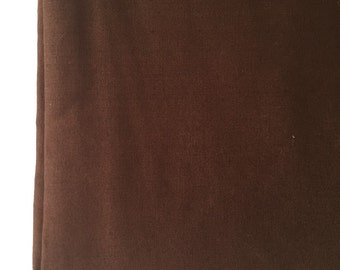 Solid Brown Fabric Material --1/2 yard--100% Cotton