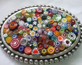 Vintage mosaic belt buckle