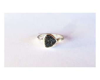 Triangle Druzy in Black