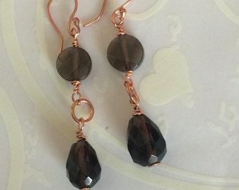 Smokey Quartz earrings