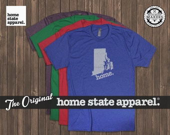 Rhode Island Home shirt Men's/Unisex green blue red purple