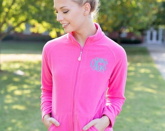 Monogram Fleece Sweater | Monogram Fleece Pullover | Monogrammed Pullover Jacket