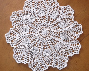 Crochet Doily in White