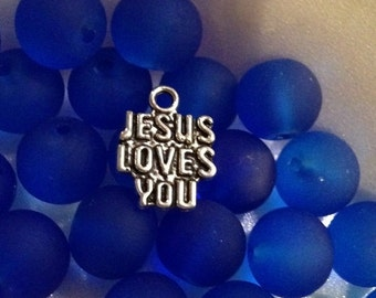 Summer Clearance Jesus Loves You Charms