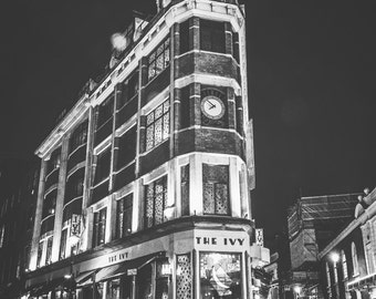London Photography, London, England, UK, The Ivy, pub, London wall art, London decor, London pub photo