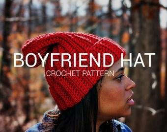 Crochet Pattern / The Boyfriend Hat