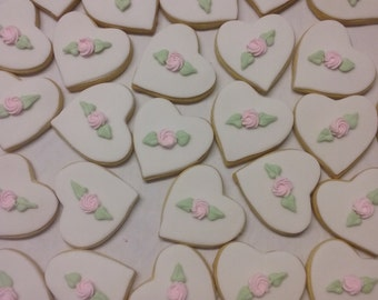 Royal icing rosette cookies