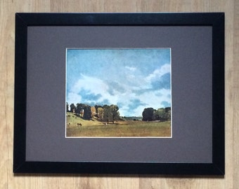 "Framed and Mounted View at Epsom Print by John Constable 16"" x 12"""