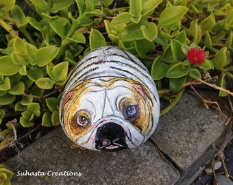 Bulldog Garden Art Etsy
