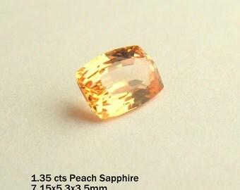 Peach champagne sapphire,mined in Srilanka.