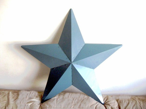Xl 28 barn star country blue primitive home decor large for Country star decorations home