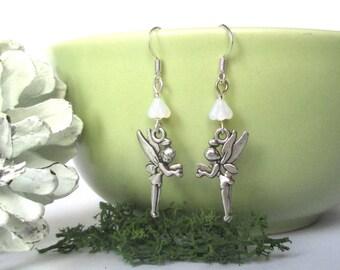Christmas Fairy earrings - Christmas earrings - Snowdrop Fairy - Magic Fairy - Winter Wonderland - Make a wish - Stocking filler - UK