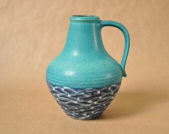 Blue Dümler & Breiden vase 313 | 20 - West German pottery vase - Duemler