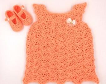 Baby Girl Crochet Dress & Shoes