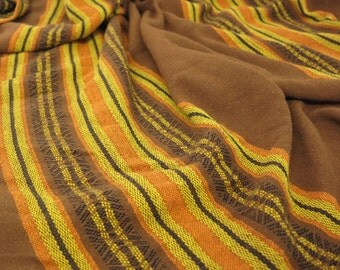 Mid Century Modern Tablecloth Fall Color Tablecloth Woven Tablecloth Mexican Style