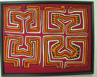 Mola Applique Cuna Indian Applique Panama Mola Embroidery