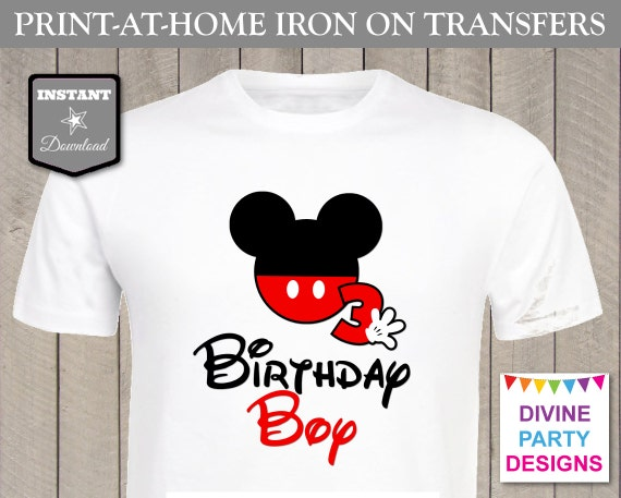 Instant Download Print At Home Mouse Birthday Boy 3