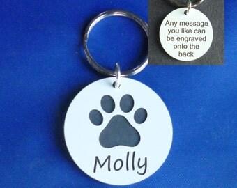 Dog - Cat Paw Pet id Tag