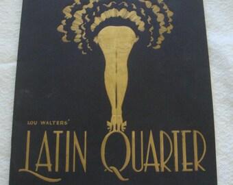 1950's Vintage Latin Quarter Program