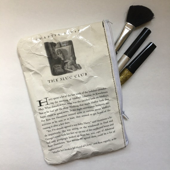 Harry Potter Book Themed Vinyl Pencil or Make-Up Pouch - The Slug Club