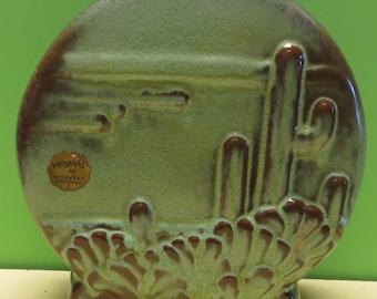 Vintage 1950's Frankoma Western Cactus Planter - Matte Finish - Free Shipping