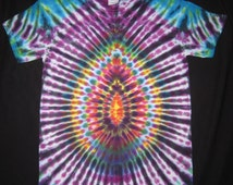 S41 Psychedelic Turtle Egg, Tie Dye T-shirt, Fits Adult Unisex Small