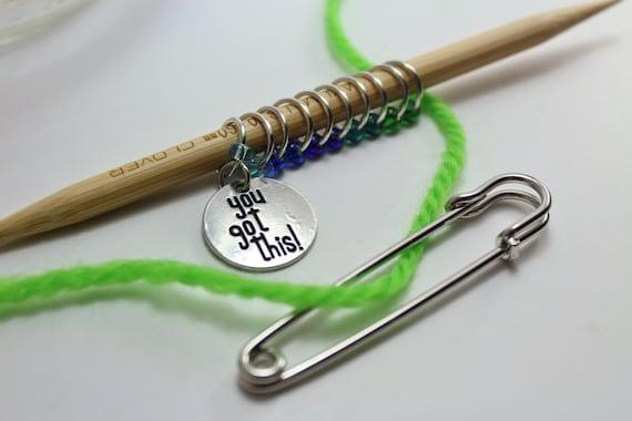 Inspiration knitting stitch markers - ring stitch markers - snag free stitch ...
