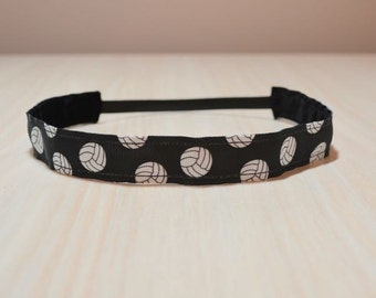 Non-Slip Headband - Volleyball, Black