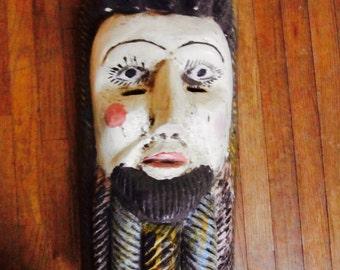 Americana Folk Art Hand-Carved Mask
