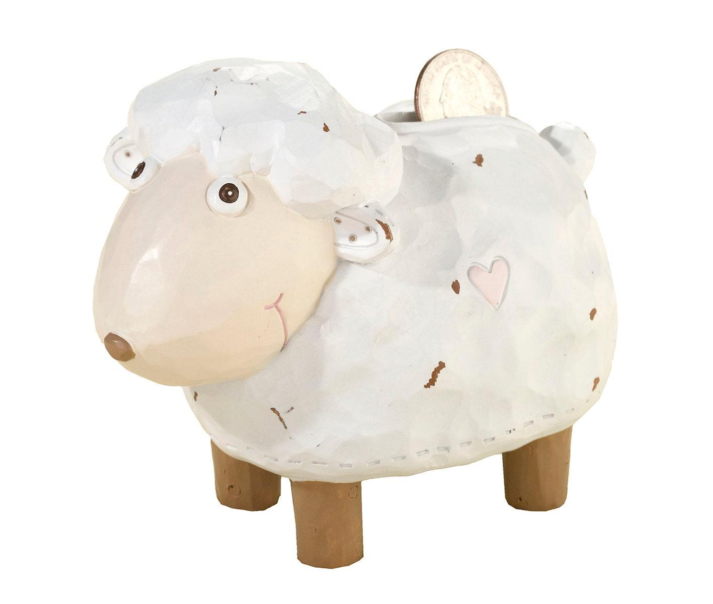 Baby Gift Piggy Bank : Baby lamb piggy bank lr shower gift gender