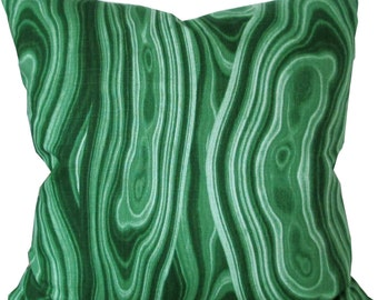 Malakos Malachite-Robert Allen-Designer Decorative Pillow Cover-Double Sided