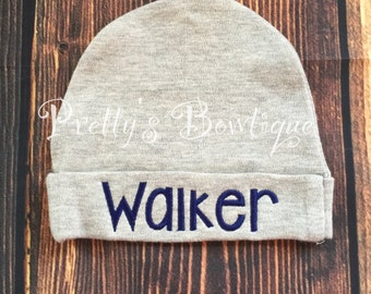 Personalized newborn hat - Newborn beanie - Newborn monogram hat - Baby Hat - Coming home hat